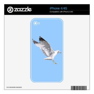 Landing White Sea Gull Wildlife Birdlover Gift iPhone 4 Skins