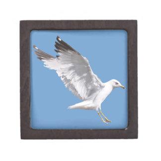 Landing White Sea Gull Wildlife Birdlover Gift Keepsake Box