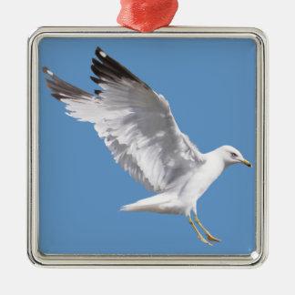 Landing White Sea Gull Wildlife Birdlover Gift Christmas Tree Ornaments
