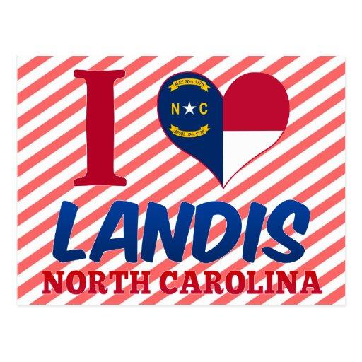 Landis, Carolina del Norte Tarjeta Postal