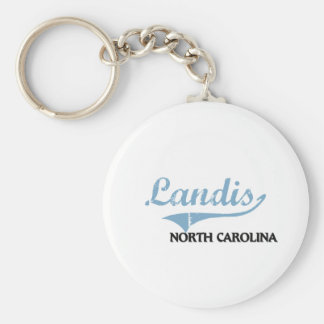 Landis North Carolina City Classic Basic Round Button Keychain