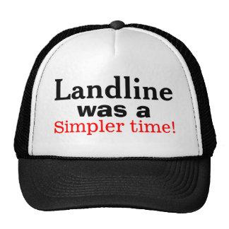 Landline Was A Simpler Time Dial Phone Humor Hat