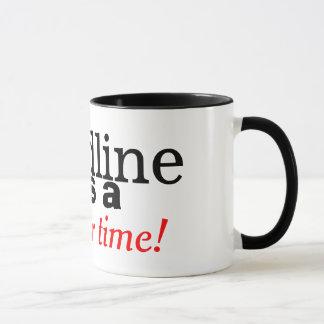 Landline Was A Simpler Time Retro Phone Mug
