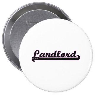 Landlord Classic Job Design 4 Inch Round Button