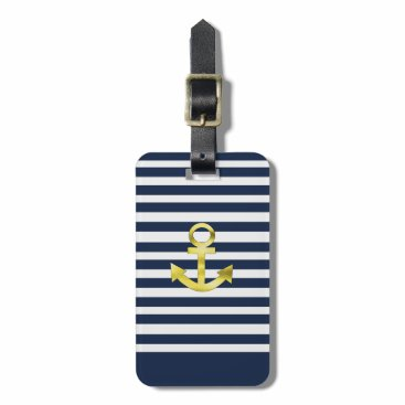 landlord nautical with anchor sea bream bag tag