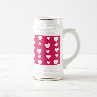 Landlord white Hearts of the day of San Valentin Beer Stein