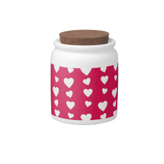 Landlord white Hearts of the day of San Valentin Candy Jar
