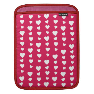 Landlord white Hearts of the day of San Valentin Sleeves For iPads