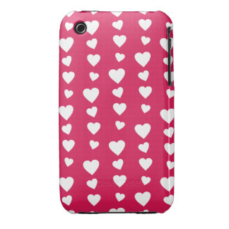 Landlord white Hearts of the day of San Valentin iPhone 3 Case-Mate Cases