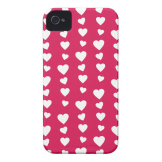 Landlord white Hearts of the day of San Valentin iPhone 4 Case