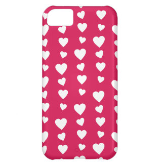 Landlord white Hearts of the day of San Valentin iPhone 5C Cover