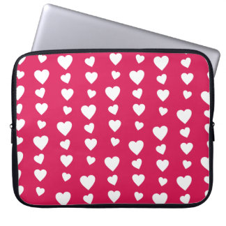 Landlord white Hearts of the day of San Valentin Laptop Computer Sleeve
