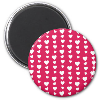 Landlord white Hearts of the day of San Valentin Magnet