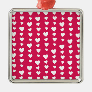Landlord white Hearts of the day of San Valentin Metal Ornament