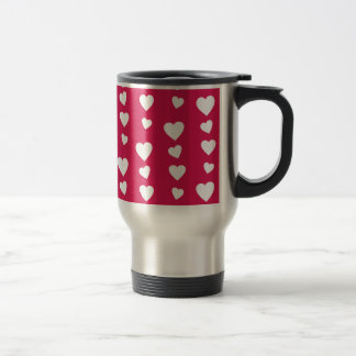 Landlord white Hearts of the day of San Valentin Travel Mug