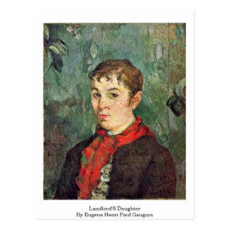 Landlord'S Daughter By Eugene Henri Paul Gauguin Postcard
