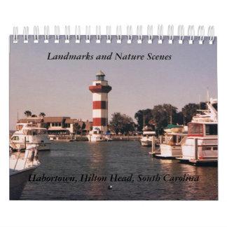 Landmark and Nature Scene Calendar
