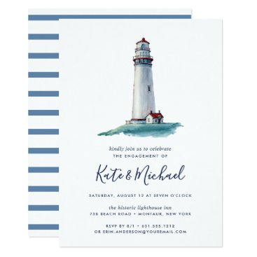 Beach Themed Landmark | Engagement Party Invitation