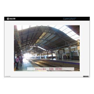 "Landmark Landscapes AWESOME DELHI METRO Railway 15"" Laptop Decal"