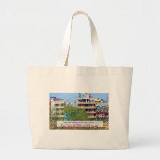 Landmark Landscapes AWESOME DELHI METRO Railway Large Tote Bag