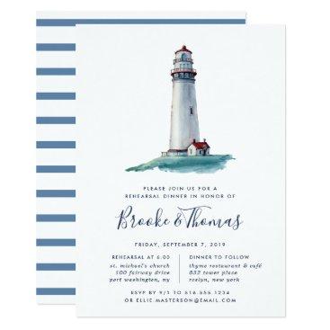 Beach Themed Landmark | Rehearsal Dinner Invitation