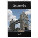 landmarks calendar 2012