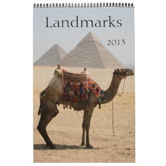 landmarks calendar 2013