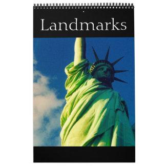landmarks of the world calendar