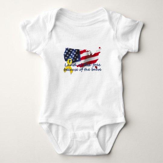 landofthefree baby bodysuit