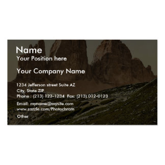 Landro, the Three Spires (i.e., Drei Zinnen), and Business Card Template