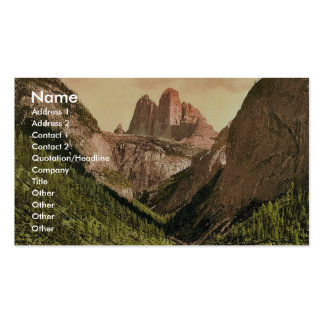 Landro, the Three Spires (i.e., Drei Zinnen), Tyro Business Card Templates