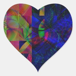 Lands Edge Heart Stickers