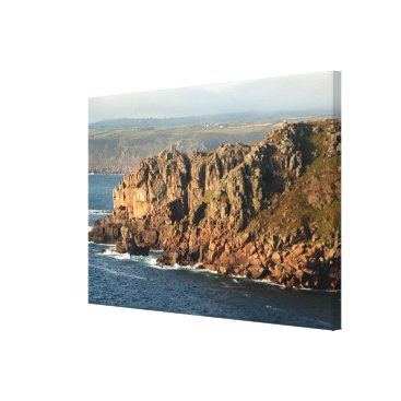 franwestphotography Lands End, Cornwall, England Canvas Print