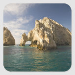 Land's End, el arco cerca de Cabo San Lucas, Baja Calcomanías Cuadradass Personalizadas