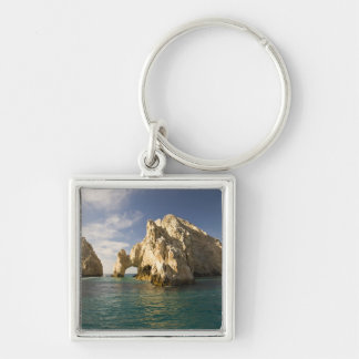Land's End, The Arch near Cabo San Lucas, Baja Silver-Colored Square Keychain