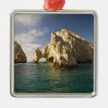 Land's End, The Arch near Cabo San Lucas, Baja Square Metal Christmas Ornament