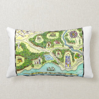 Lands of Many Tales Fairy Tale Map Pillow