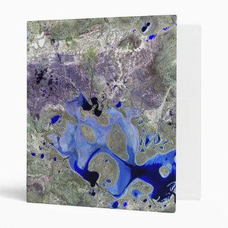 Landsat 7 Lake Carnegie Vinyl Binder
