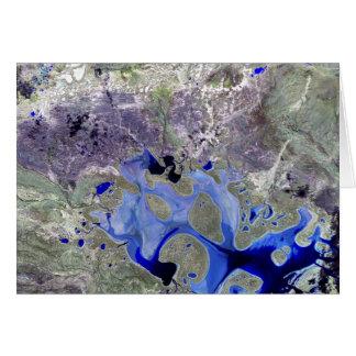 Landsat 7 Lake Carnegie Card