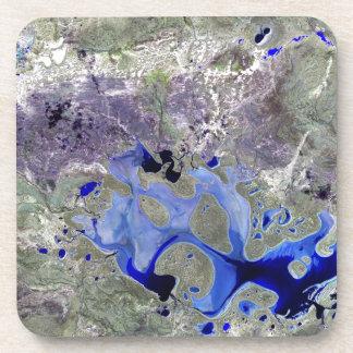 Landsat 7 Lake Carnegie Beverage Coaster