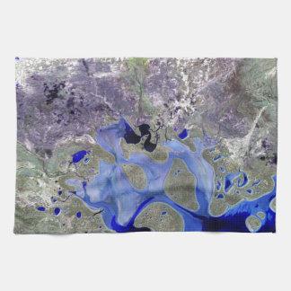 Landsat 7 Lake Carnegie Kitchen Towels