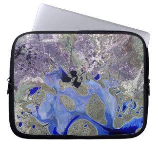 Landsat 7 Lake Carnegie Laptop Sleeves