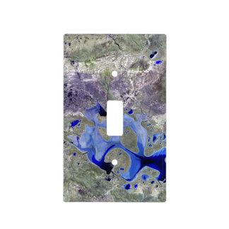 Landsat 7 Lake Carnegie Switch Plate Covers