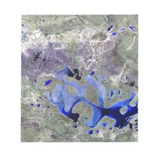 Landsat 7 Lake Carnegie Note Pad