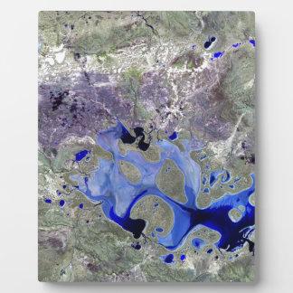 Landsat 7 Lake Carnegie Photo Plaque