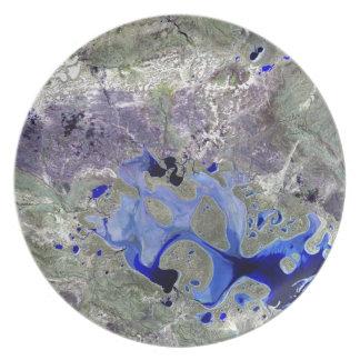 Landsat 7 Lake Carnegie Plates