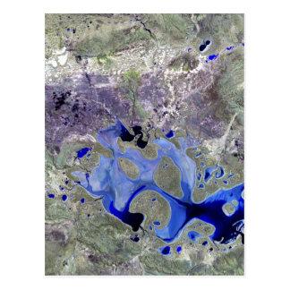 Landsat 7 Lake Carnegie Postcards