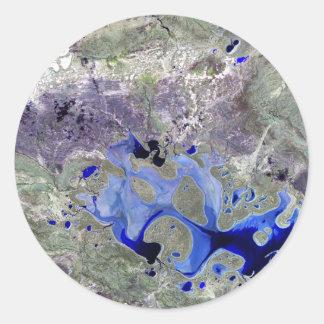 Landsat 7 Lake Carnegie Stickers