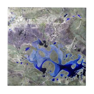 Landsat 7 Lake Carnegie Tiles