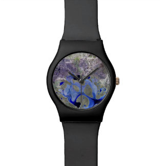 Landsat 7 Lake Carnegie Wrist Watches
